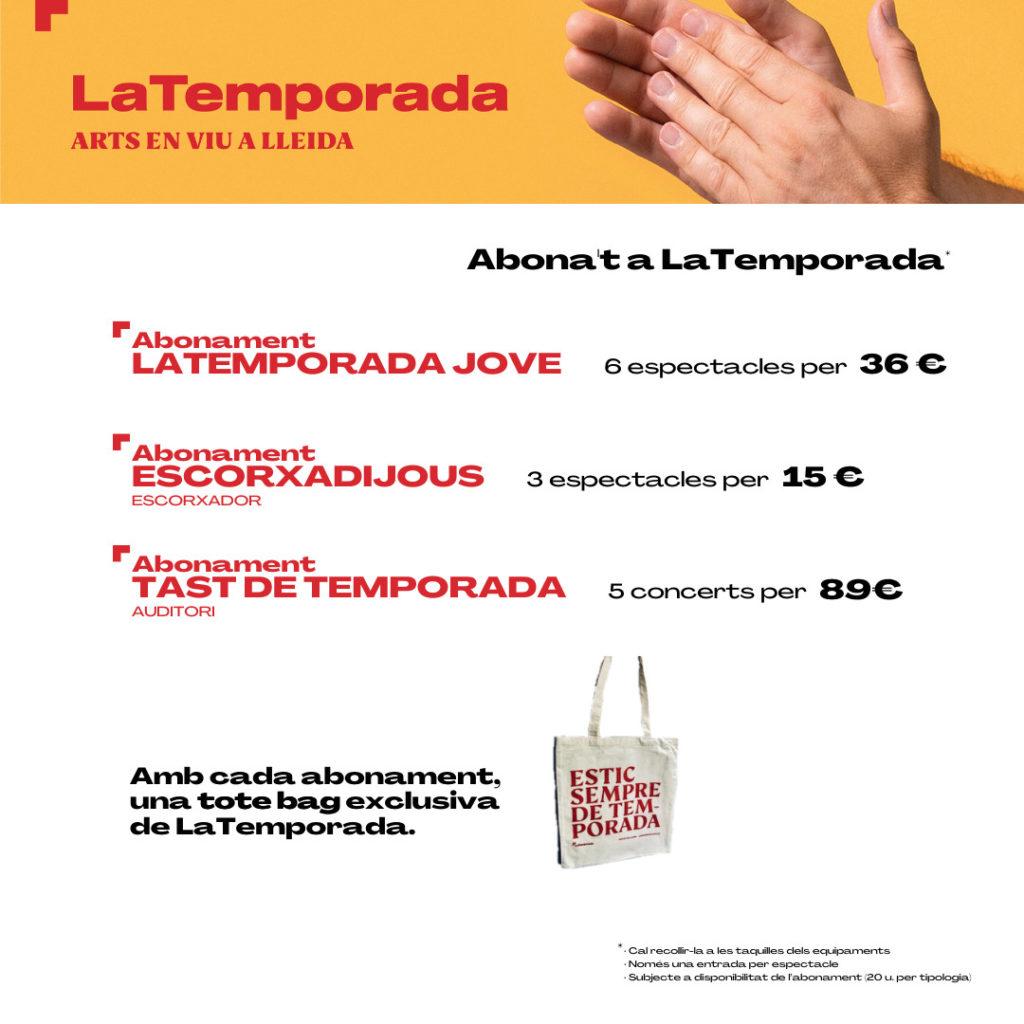 Prepara't per a LaTemporada, compra el teu abonament i emporta't una bossa de regal!